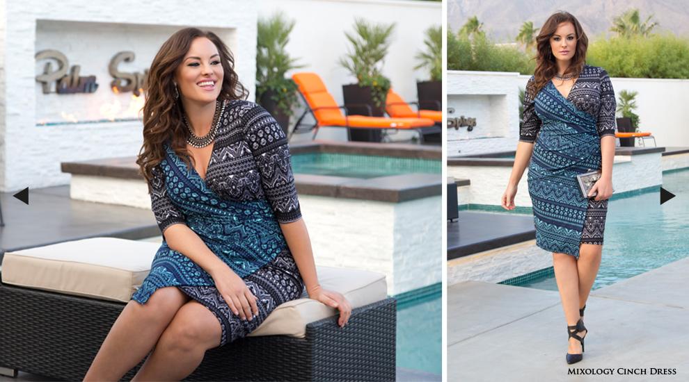 Women's Plus Size Midi Length Cocktail Dresses