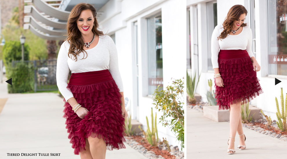 Plus Size Midi Length Skirts