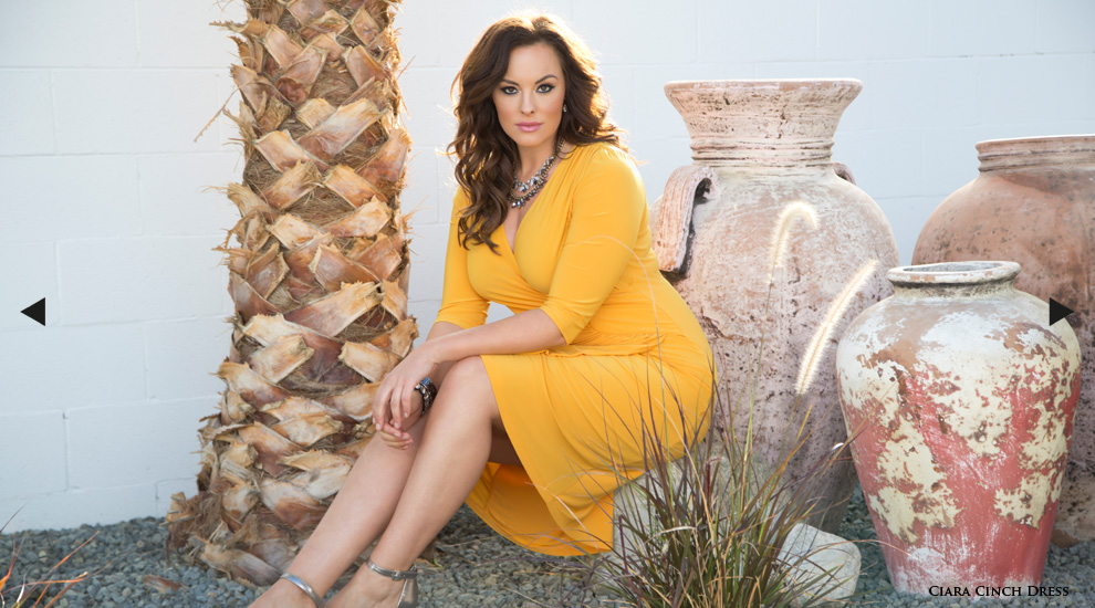 Plus Size Cocktail dresses in yellow for spring