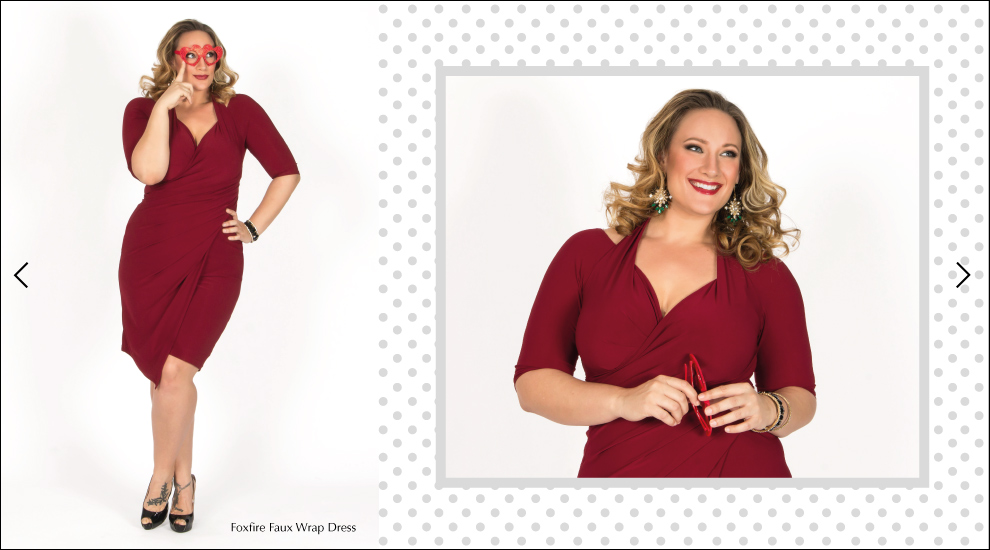 Plus Size Dresses in Burgundy