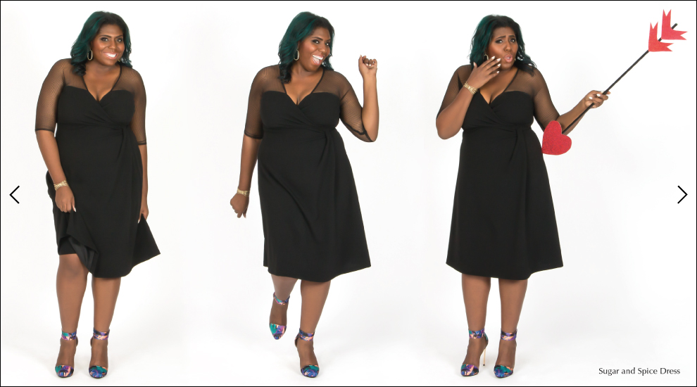 Trendy Plus Size Dresses in Black