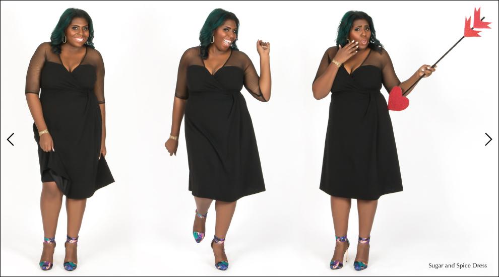 Trendy Plus Size Dresses in Black