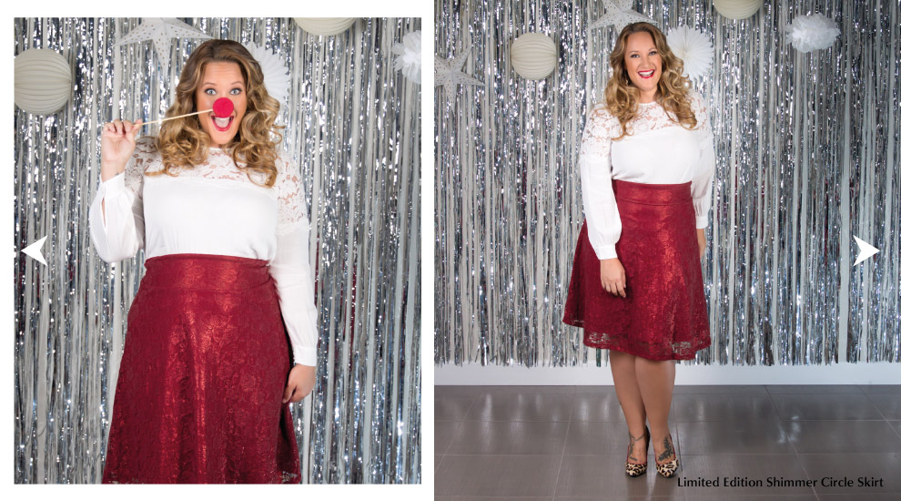 Plus Size Circle Skirts for Holiday Parties