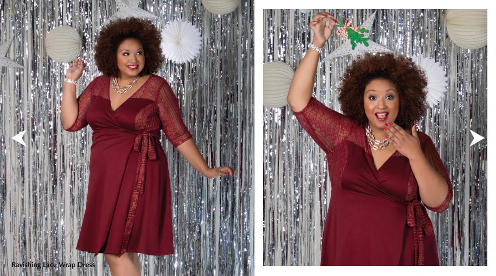 Plus Size cocktail wrap dresses