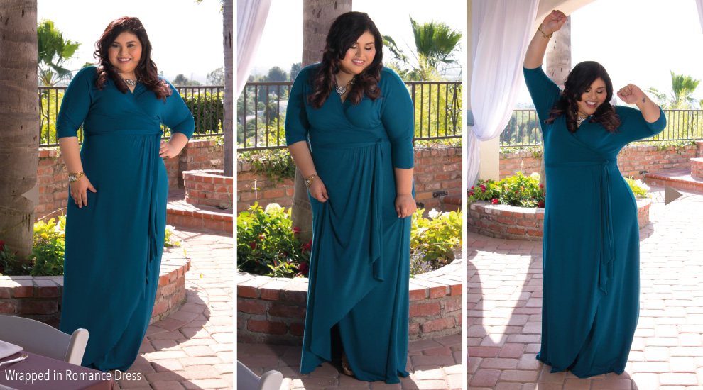 Pretty Plus Size Dresses in Blue