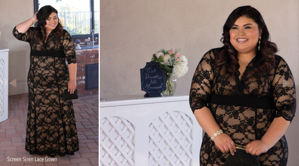 Plus Size Lace Gown