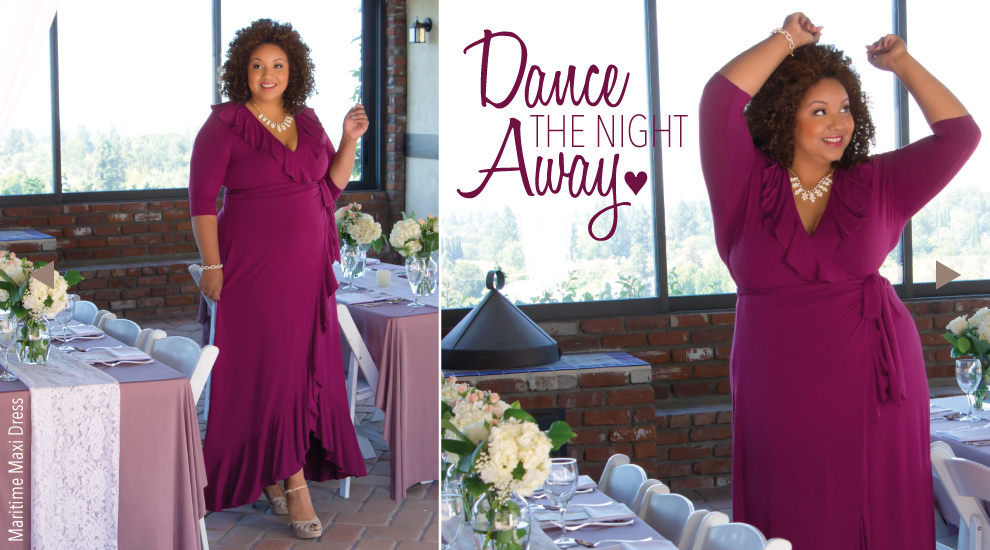 Plus Size Wrap Dresses in Pink