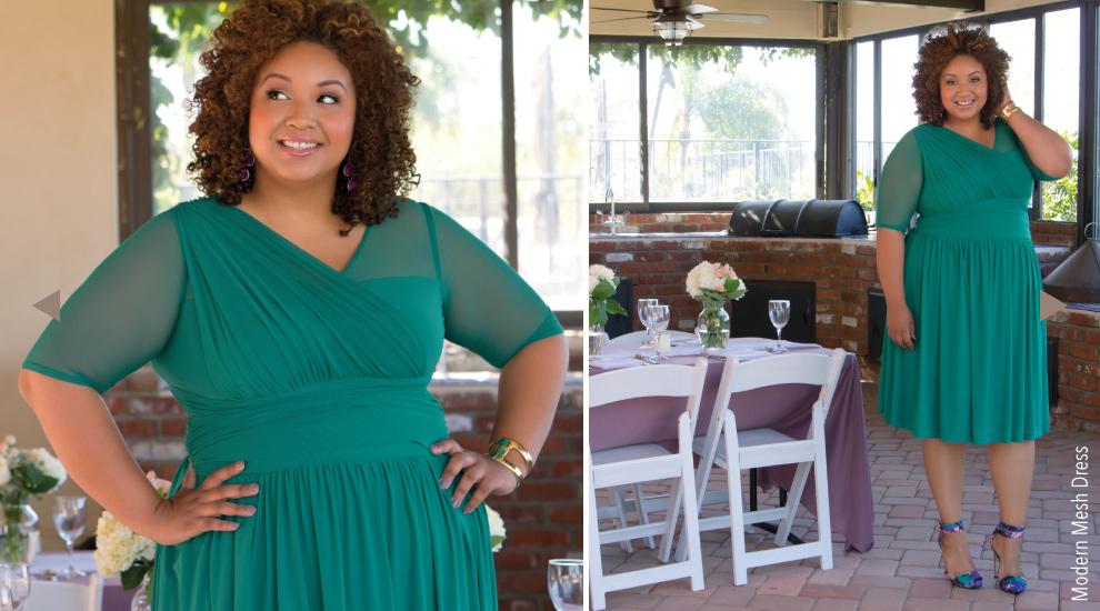 Elegant Plus Size Tea Length Dresses