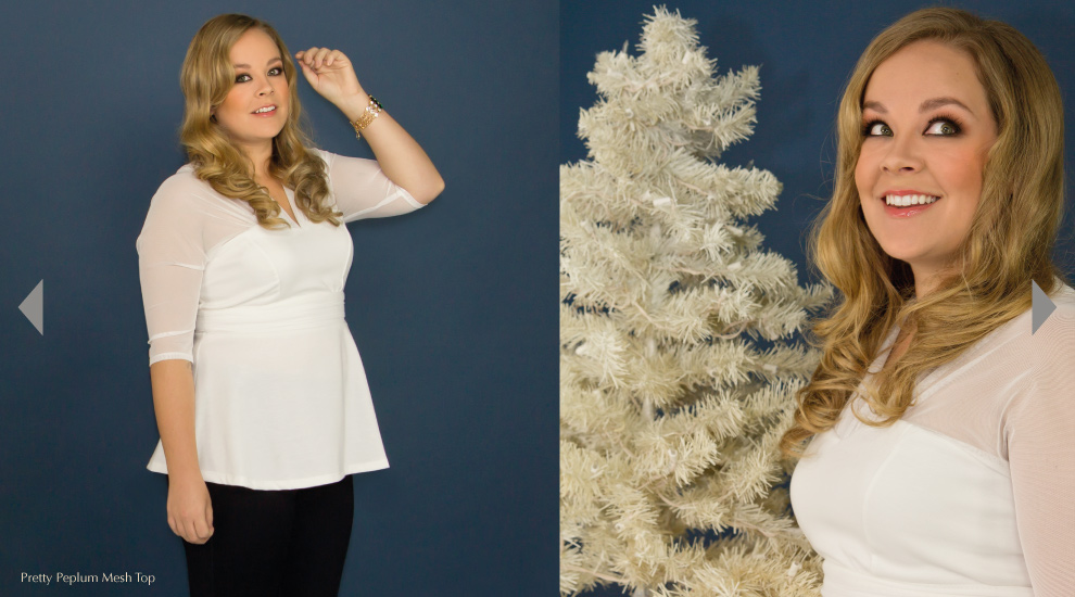 Holiday Peplum Tops for Women in white