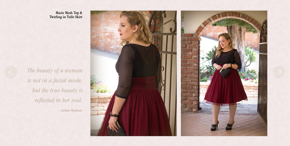 Retro Plus Size Tops and Skirts