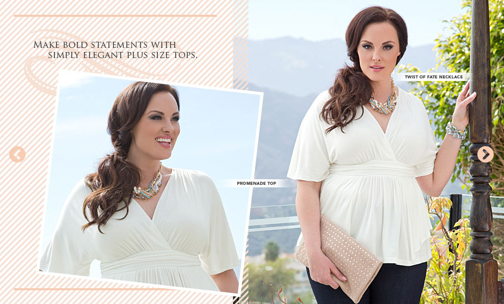 Elegant plus size summer top